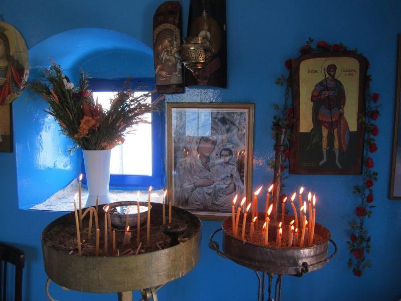 Agios Isidoros kilisesi ici Leros