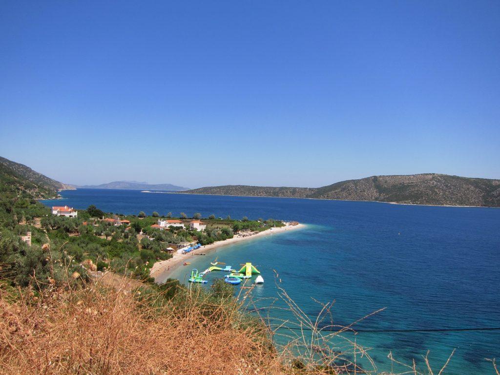 Alonissos Agios Dimitrios Plajı yukardan