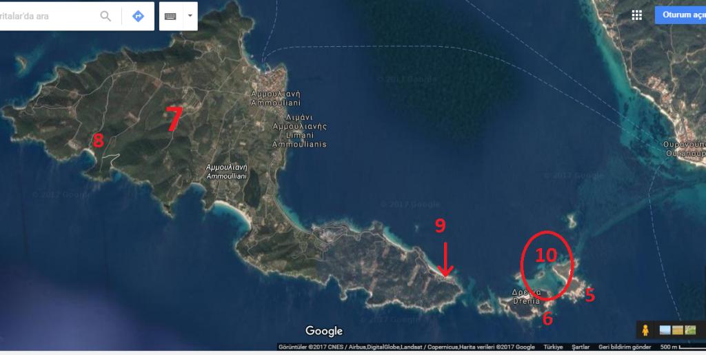 Halkidiki Ammouliani adası