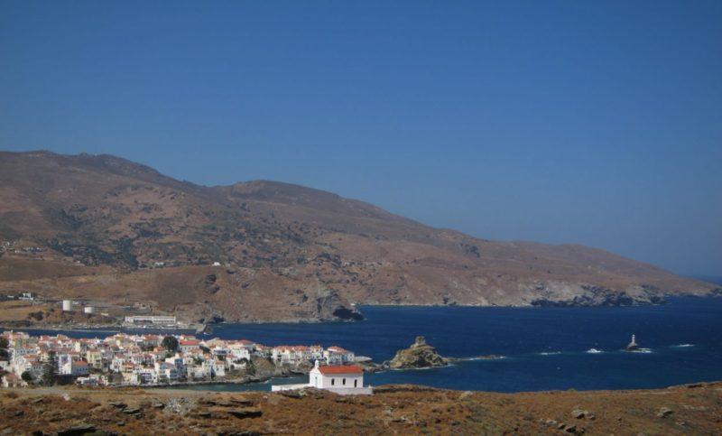 Andros adası Hora deniz feneri