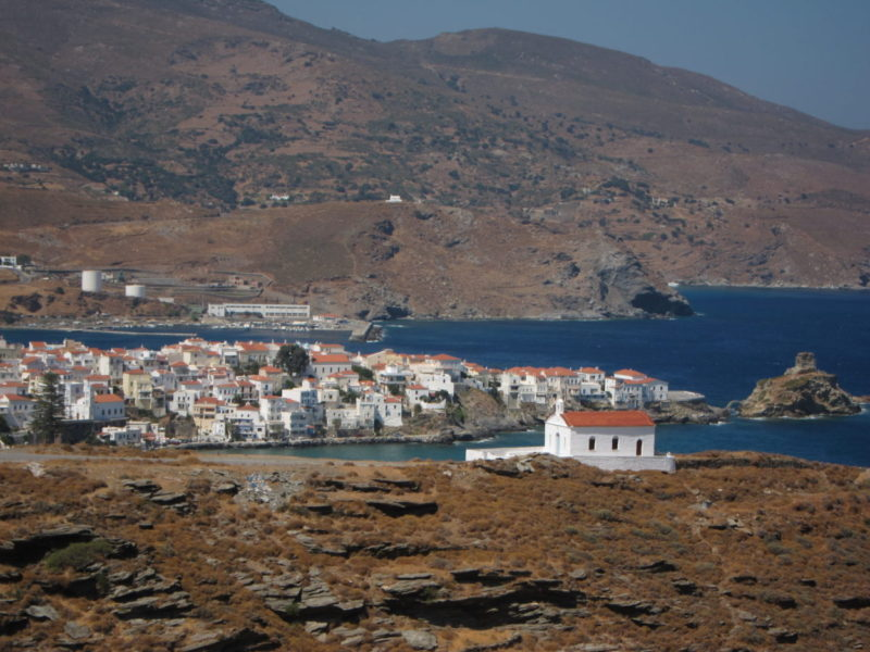 Andros Chora panoramik görünüm