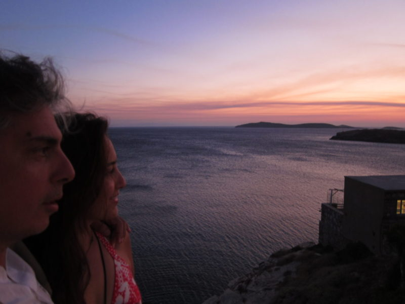 Andros adası Batsi günbatımı
