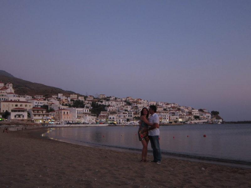 Andros adası Batsi kumsalı