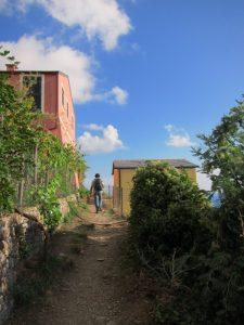 Levanto-Monterosso yolu başlangıç