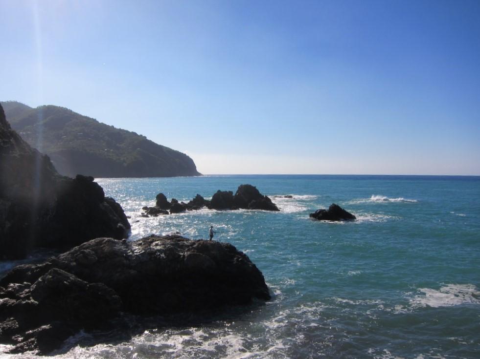 Cinqueterre sahil kayaliklar