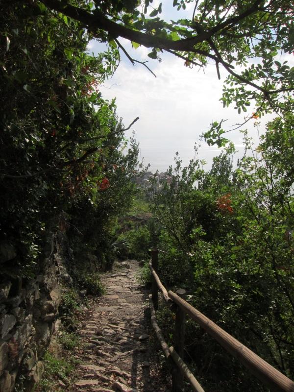 Corniglia Manarola yuruyus yolu