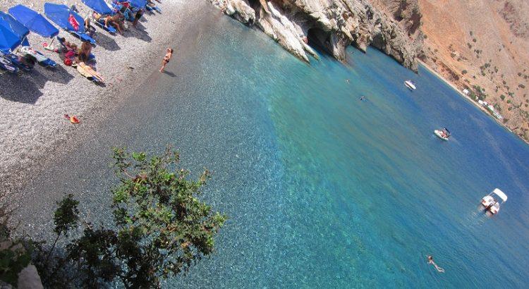 Girit Aradena'yı yürümenin ödülü: Marmara plajı