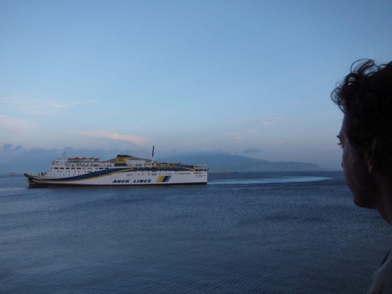 Halki adası Rodos feribot Anek Lines