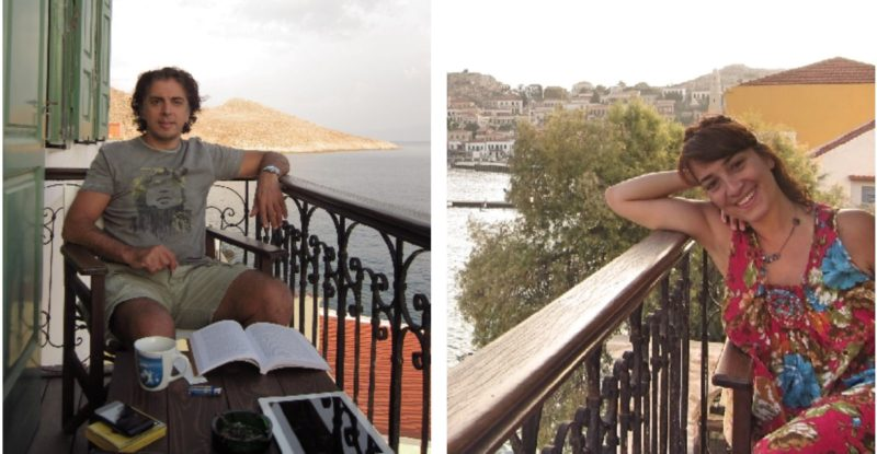 Halki Villa Praxithea balkon sefasi