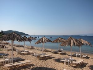 Ouranopoli de bir plaj