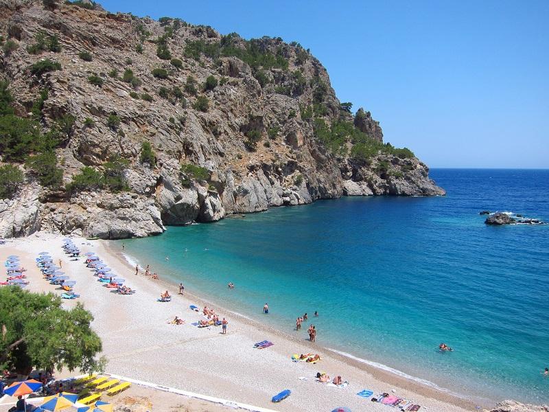 Karpathos Achata plajı görünüm