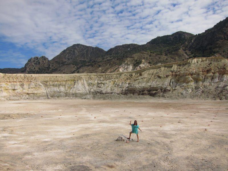 Volkan kraterinin içinde