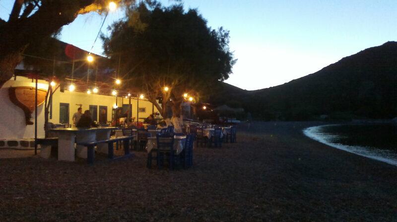 Patmos Lampi plaj ve taverna