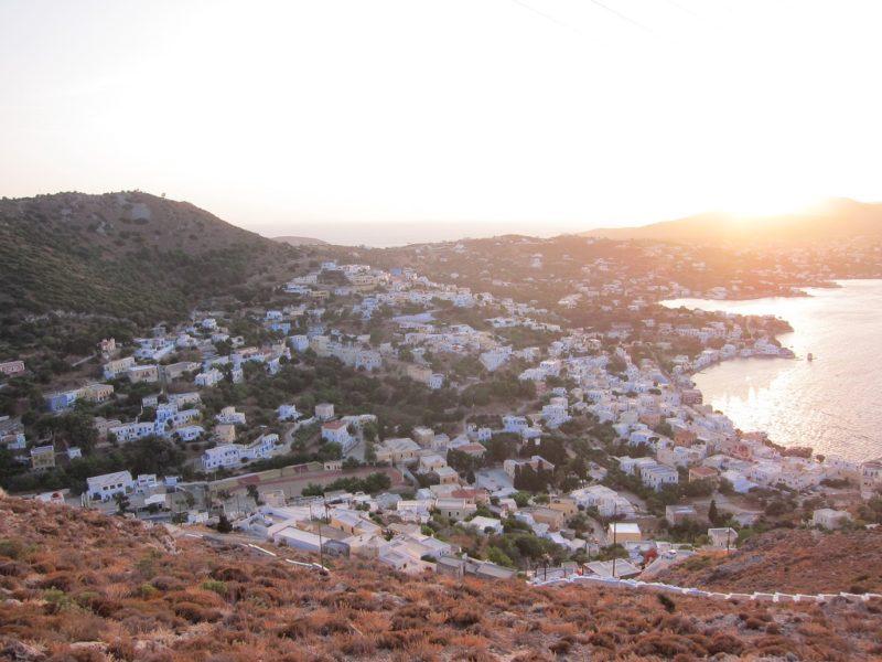Leros kale manzarası Agia Marina tarafı