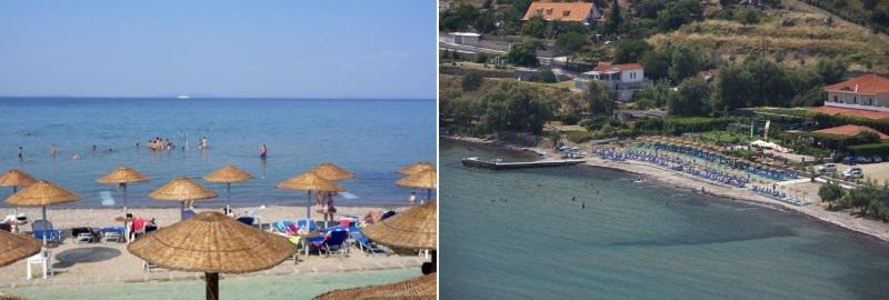 Midilli adası xampelia plajı