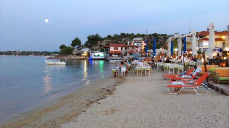 Ormos Panagia da halkidiki akşamı
