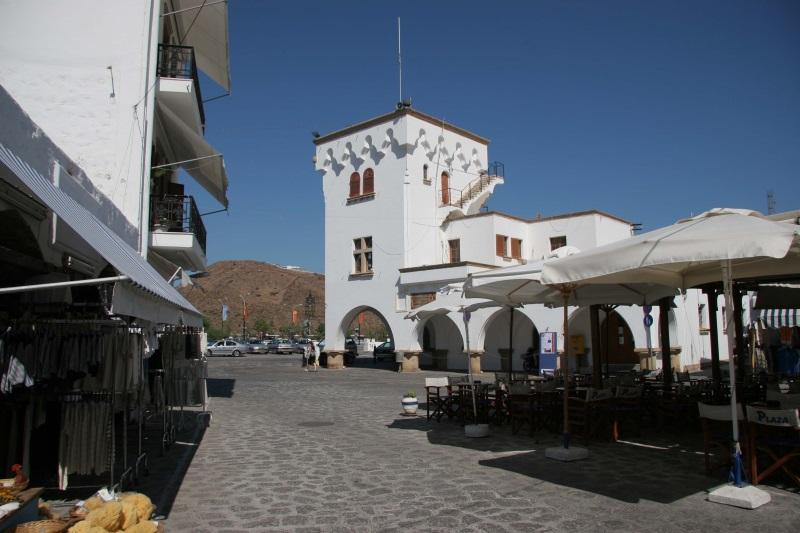 Patmos adası skala meydan