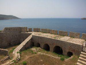 Peleponnes Navarin kalesi manzarasi