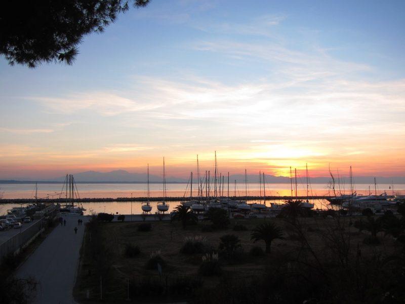 Selanik Kalamaria gün batımı