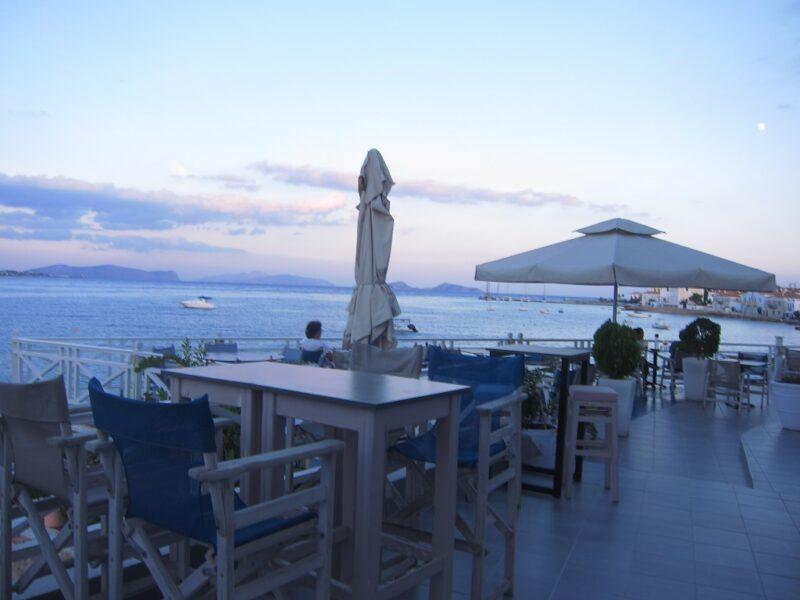 Spetses Cielo Mar All Day Bar manzara