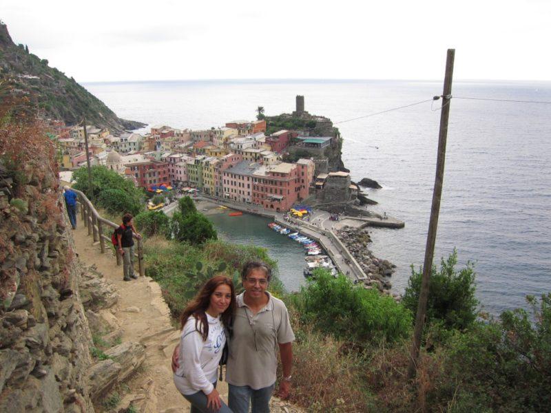 Monterosso-Vernazza yol bitiminden