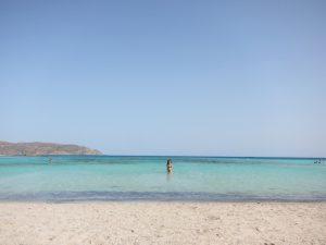 Elafounissi plajı turkuaz mavi