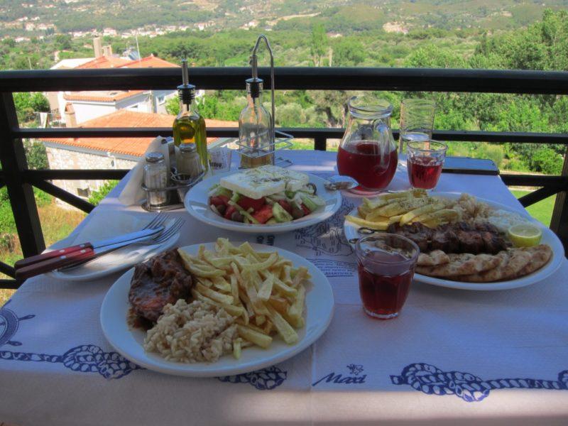 Lekka köyü , manzaralı yemek