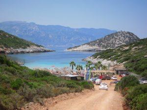 Livadaki plaj yolu, Samos