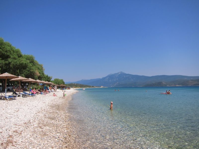 Mykali plajı doğu, Samos