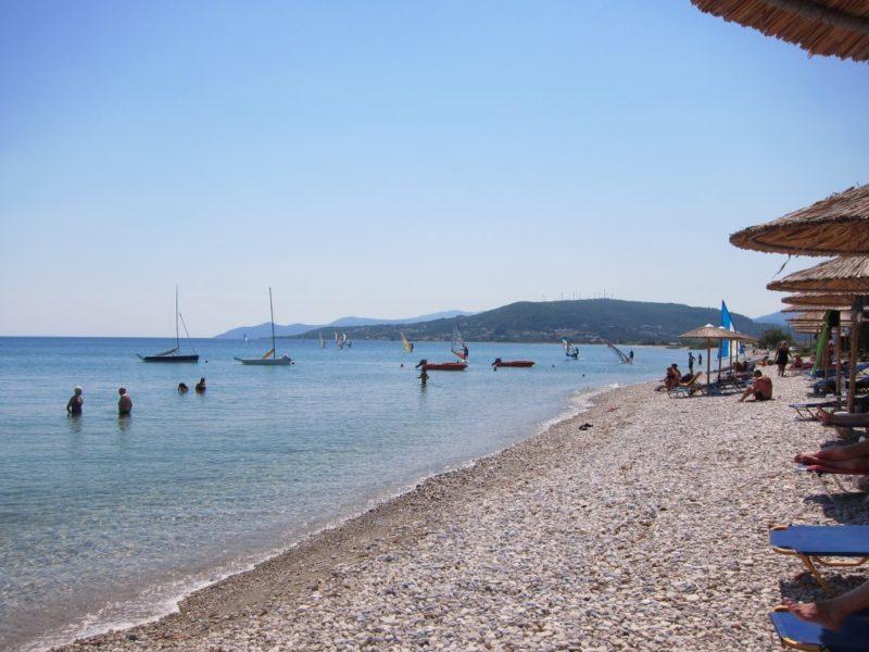 Mykali plajı batı, Samos