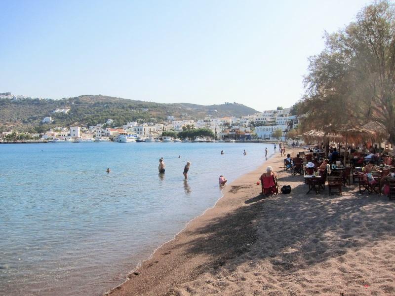 Patmos adası Skala sahil