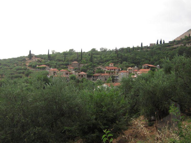 Peleponnes'de bir dağ köyü