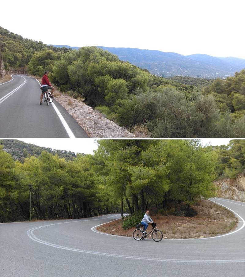 Poros adası bisiklet turu