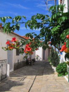 Manolates köyü sokakları