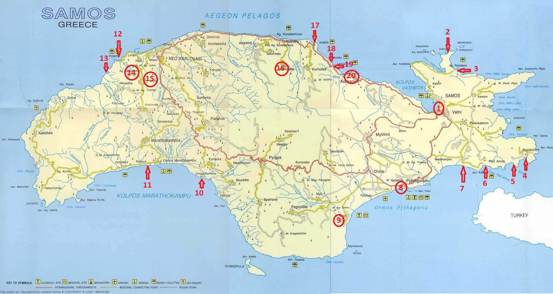 Samos gezi planı
