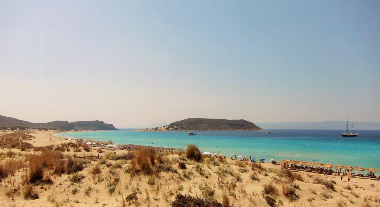 Elafonisos Simos plajı kuzeyden
