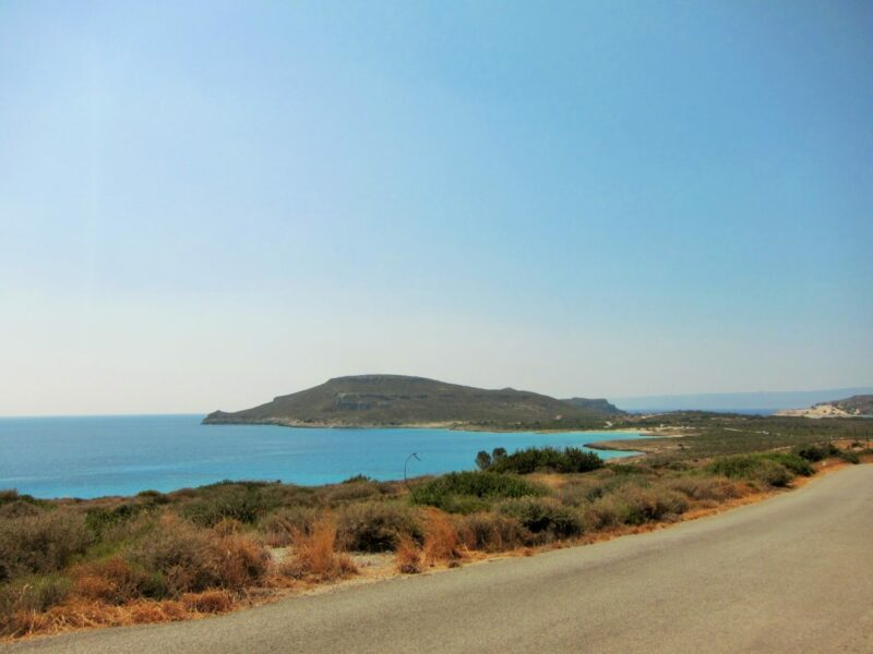 Elafonisos Simos plaji yolu